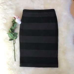 Old Navy stripe pencil skirt